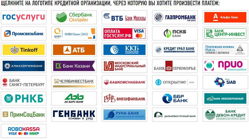 Банки для онлайн-оплаты налогов через личный кабинет ФЛ