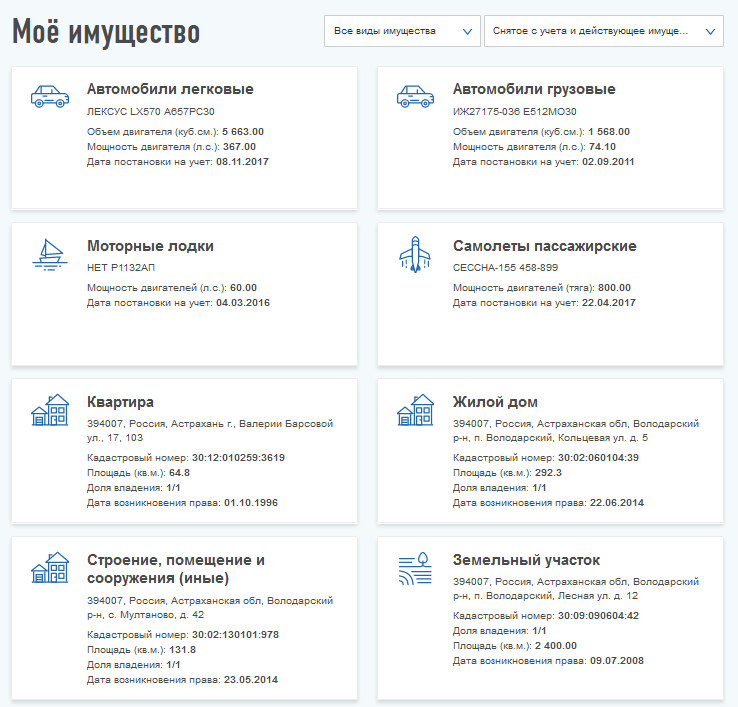 Возможности личного кабинета ФЛ налоговой инспекции РФ
